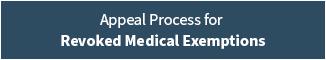 Medical Exemptions Banner